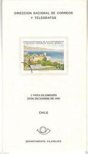 Chile 1981 Brochure Cincuentenario Universidad Tecnica Federico Santa Maria