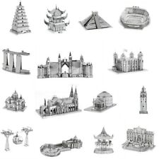 Architecture 3D Metal Puzzles World Famous Building Cathedral Tower Garden Hobby