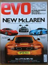Evo Magazine #136 - November 2009 - 458 McLaren MP4-12C SLS AMG  Noble M600