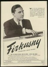 1948 Rudolf Firkusny photo piano recital booking vintage print ad