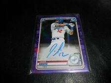 2020 BOWMAN CHROME JACOB AMAYA PURPLE REFRACTOR ROOKIE AUTO /250