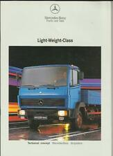 MERCEDES BENZ LIGHT WEIGHT CLASS DROP SIDES TRACTOR LORRY BROCHURE 1992