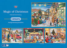 Gibsons - 4 X 500 PIECE JIGSAW PUZZLES - Magic Of Christmas
