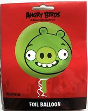 "Angry Birds Green pig 18"" / 45cm foil balloon, Birthday, party, celebration, new"