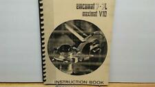 EMCO Emcomat 7-7L & Maximat V10 Instruction Manual & Spare Parts List