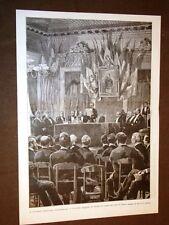 Milano Congresso ferroviario internazionale del 1887 Seduta Teatro Alla Scala