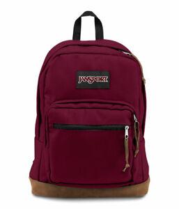 "Jansport ""Right Pack"" Backpack Suede School Book Bag Laptop Original Authentic"