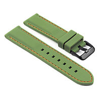StrapsCo Premium Silicone Rubber Watch Strap Divers Band w/ Matte Black Buckle