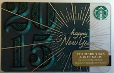 Starbucks Collectible Gift Card 2015 Happy New Year Unscratched PIN