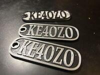 Custom  Ham Radio Callsign Key Ring Keychain Gear Tag Luggage Gift Personalized