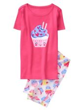 Gymboree Girls Nwt Spring Vacation Cupcake Pink Shortie summer Pjs Size 7