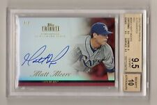 MATT MOORE 2012 TOPPS TRIBUTE RED ROOKIE RC AUTOGRAPH # / 5 BGS 9.5 AUTO 10 RAYS