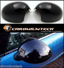 NERO LUCIDO Specchietto Laterale Tappo Di Copertura Per MK1 BMW MINI Cooper / S / ONE R50 R52 R53 LHD