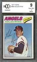 1977 topps #650 NOLAN RYAN california angels BGS BCCG 9