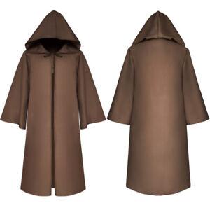 Unisex Hooded Cape Adult Long Cloak Men's Ladies Halloween Costume Dress Coats