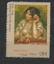 N° 4407 Gabrielle à la rose renoir oblitérés année  2009
