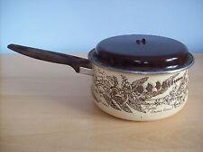 Pan Retro Vintage Saucepan with Lid Various Herb Patterns