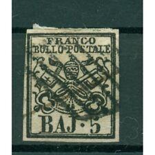 Etats Pontificaux 1852/64 - Y & T. n. 6 - Armoiries 5 baj. (xviii)
