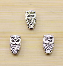 20 pcs Very auspicious owl Tibet silver pendant 10x6 mm