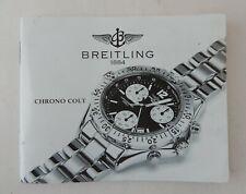 BREITLING S.A. - CHRONO COLT - Operating Instruction - Manuale Istruzioni