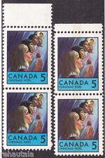 "Canada: #502i 502pi 5c Christmas Children, ""Arc on Chin"" Variety Set MNH CV$25*"