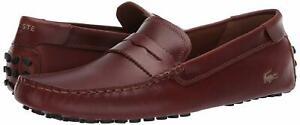 Men's Shoes Lacoste CONCOURS NAUTIC 120 U CMA Leather Moc 39CMA0084AK2 TAN