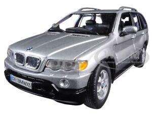 BMW X5 SILVER 1/24 DIECAST MODEL CAR BY MOTORMAX 73254