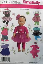 New Pattern 1711 Doll Clothes Dance Dress and Casual fit 18 inch American Girl