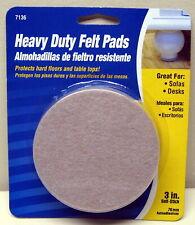 """3"""" Round Beige Adhesive Backed Felt Pads"""