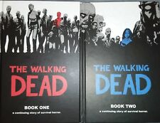 The Walking Dead Vol 1-2 Hardcover Graphic Novel Comic Horror Image VG+ free shp
