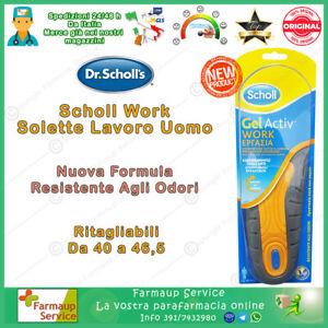 Dr Scholl Gel Activ Professional Work NUOVA FORMULA Solette Da Lavoro Uomo