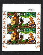 NEW ZEALAND Health Miniature sheet....  1977  animals  mnh