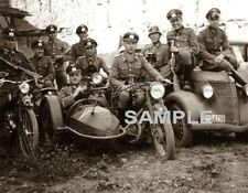 GERMAN MILITARY SIDE CAR WW2 Photo
