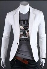 Stylish Charm Men's Casual Slim Fit One Button Top Suit Blazer Coat Jacket Tops