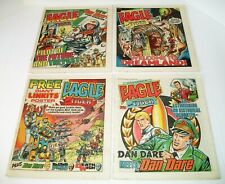 Eagle And Tiger  #210-#213 4 Issue Lot 1986 IPC Magazines London Newsprint