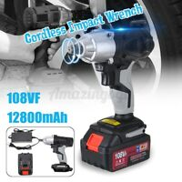 320NM 1/2'' Electric Cordless Impact Wrench Drill 12800mAh Battery Charger Tool