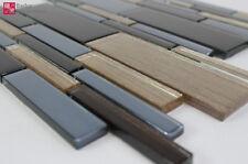 Mosaico de Vidrio Mosaicos Mosaico Mosaikglas Baldosas Losa Negro Oro Braun 1m ²