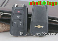 For CHEVROLET Remote Key Case Fob Replacement 4 Button Flip Key Shell