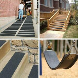 """Non Slip Indoor Outdoor Tape Grip Adhesive Black Floor Step Safety 6""""x24"""" 10 Pck"""