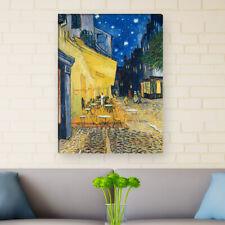 """WANDKINGS Leinwandbild Van Gogh- """"Café Terrasse am Abend"""""""