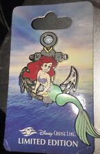 Disney Pin Ariel Dcl Cruise Line Anchor Le 500 On Card Htf