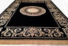 Seiden Teppich Carpet schwarz 290x200 medusa versac Perser Orient barock rug NEU