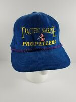 Vintage Corduroy Embroidered US NAVY CAP Pacific Marine Propellers Snapback