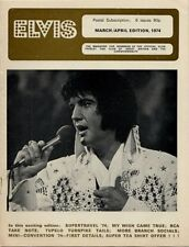 Elvis Presley Fan Club Magazine March/April 1974 CD