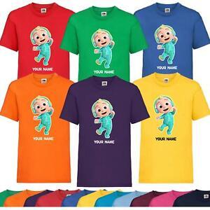 Kids Boys Girls Personalised Name Cocomelon T-shirt Birthdays Nursery Rhyme Tee