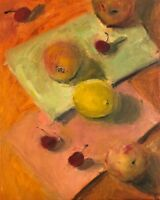 Still life with fruits and cherries