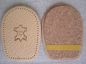 5mm/0.5cm  Leather&Cork Heel Insoles Lift/Support Insert for Men and Women