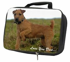 More details for lakeland terrier 'love you dad' black insulated school lunch box bag, dad-73lbb