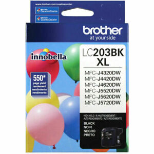 Genuine Brother LC203BK High Yield Black Ink Cartridge LC203 - Black - New