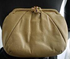 Vintage JUDITH LEIBER Tan Karung Snake Shoulder Bag